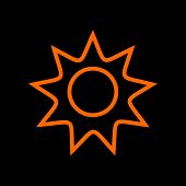 Sun Icon Isolated On White Background From Nature Collection. Sun Icon Trendy And Modern Sun Symbol  poster