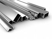 stock photo of girder  - Illustration of products of the different form from metal - JPG