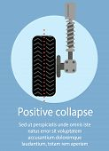 Positive Collapse. Service Station. Auto Service. Car Parts. Wheel Repair. Green Background And Text poster