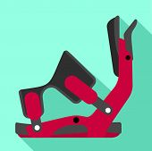 Ski Clamp Icon. Flat Illustration Of Ski Clamp Icon For Web Design poster