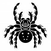 Wildlife Spider Icon. Simple Illustration Of Wildlife Spider Vector Icon For Web Design Isolated On  poster