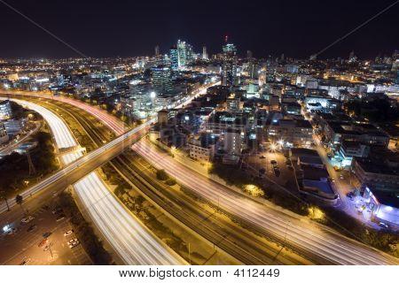 The Tel Aviv Skyline Night