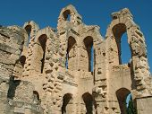 Ruins of Old Roman coliseum