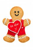Valentine gingerbread man