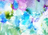 stock photo of acrylic painting  - Vivid abstract ink painting on grunge paper texture - JPG