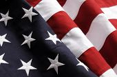 stock photo of american flags  - Closeup of an American Flag - JPG