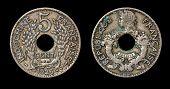 Постер, плакат: Античная монета 5 сантимов