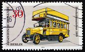Postage Stamp Germany 1973 Double-decker Bus