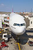 JOHANNESBURG - APRIL 18:Boeing 777 preparig for intercontinental flights on April 18, 2012 in Johann