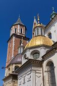 stock photo of stanislaus church  - wawel cathedral on wawel hill in old town of cracow in poland - JPG