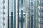 image of overpopulation  - Overpopulated building in city - JPG