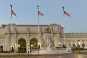stock photo of amtrak  - Union Station at night - JPG