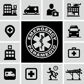 stock photo of paramedic  - Hospital icons - JPG