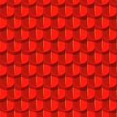 pic of red roof tile  - Vector seamless background - JPG