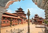 stock photo of shankar  - Mani Keshar Chowk at Durbar Sqaure in Patan - JPG