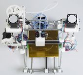stock photo of open-source  - Open Source 3D Printer Top View - JPG