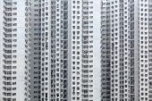 stock photo of overpopulation  - Overpopulated building in city - JPG