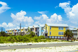 image of katrina  - new houses after hurricane Katrinain Pass Christian USA - JPG