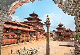 stock photo of shankar  - Mani Keshar Chowk at Durbar Sqaure in Patan - JPG