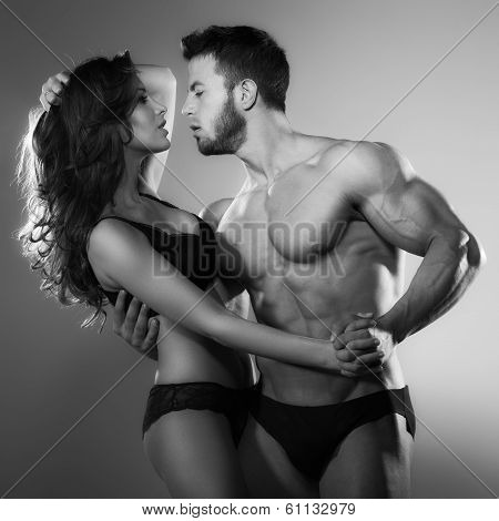 Passion woman and man poster