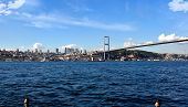 Tourism And Financial Center In Istanbul Landscape On A Sunny Day