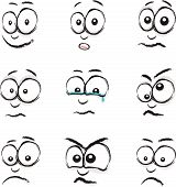 image of blubber  - a group of nine cartoon face images - JPG