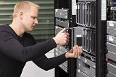 stock photo of single man  - IT technician  - JPG