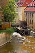 picture of water-mill  - Water mill in the river - JPG