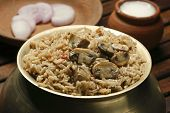 stock photo of biryani  - Mushroom Biryani  - JPG