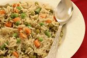 Vegetable Biryani - A Popular Indian Veg Dish Made With Vegetables And Basmati Rice. poster