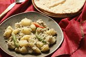pic of bengali  - Aloo Posto is a delicious Bengali side dish generally eaten as a dry accompaniment to a meal of rice and curries - JPG