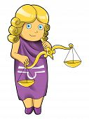 picture of libra  - Cartoon style illustration of zodiac symbol - JPG