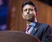 NATIONAL HARBOR, MD - MARCH 6, 2014: Louisiana Governor Bobby Jindal speaks at the Conservative Poli