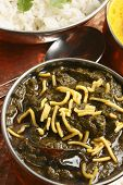 picture of sag  - Sev Ganthia Sag is a vegetarian dish from gujarat - JPG
