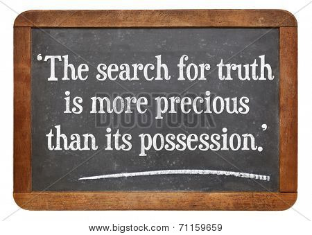 the search for truth is