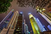 pic of big-foot  - Tall skyscrapers of the big modern city - JPG