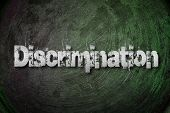 stock photo of racial discrimination  - Discrimination Concept text on background sign idea - JPG