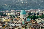 picture of synagogue  - Jewish Synagogue of Florence from top - JPG