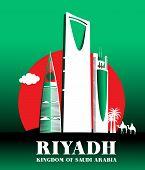 stock photo of riyadh  - City of Riyadh Saudi Arabia Famous Buildings - JPG