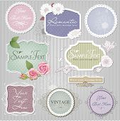 foto of art nouveau  - Vintage border set ,