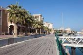 stock photo of kuwait  - Souq Sharq promenade in Kuwait City Middle East - JPG