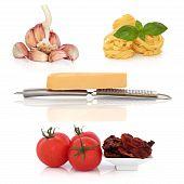 Постер, плакат: Итальянская паста ингредиенты