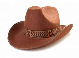 picture of wrangler  - cowboy hat isolated on white background - JPG