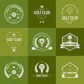picture of clubbing  - Set of golf club logo templates - JPG