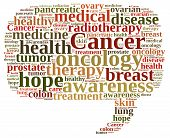 stock photo of radiation therapy  - Illustration with word cloud about different types of cancer - JPG