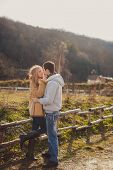 stock photo of straight jacket  - Beautiful young couple - JPG