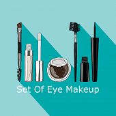 stock photo of  eyes  - set of makeup for the eyes  - JPG