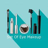 foto of  eyes  - set of makeup for the eyes  - JPG