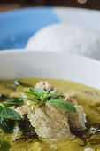 pic of thai food  - green curry with pork thai cuisine delicious food - JPG