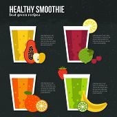 picture of fruit shake  - Fruit smoothie vector concept - JPG